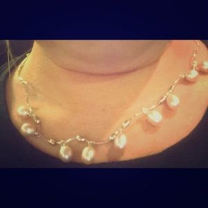 Sterling silver 7-8MM cultured FW pearls necklace
